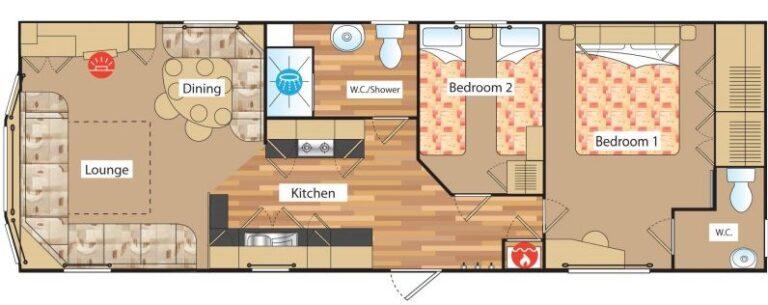 Abi Arizona 2 bed floor plan